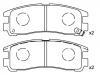 刹车片 Brake Pad Set:GEK: GD1609<br />