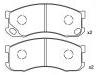 刹车片 Brake Pad Set:GEK: GD1628<br />